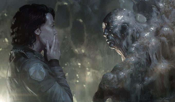 Alien 5 Concept Art Neill Blomkamp Film Project Geoffroy Thoorens Melting