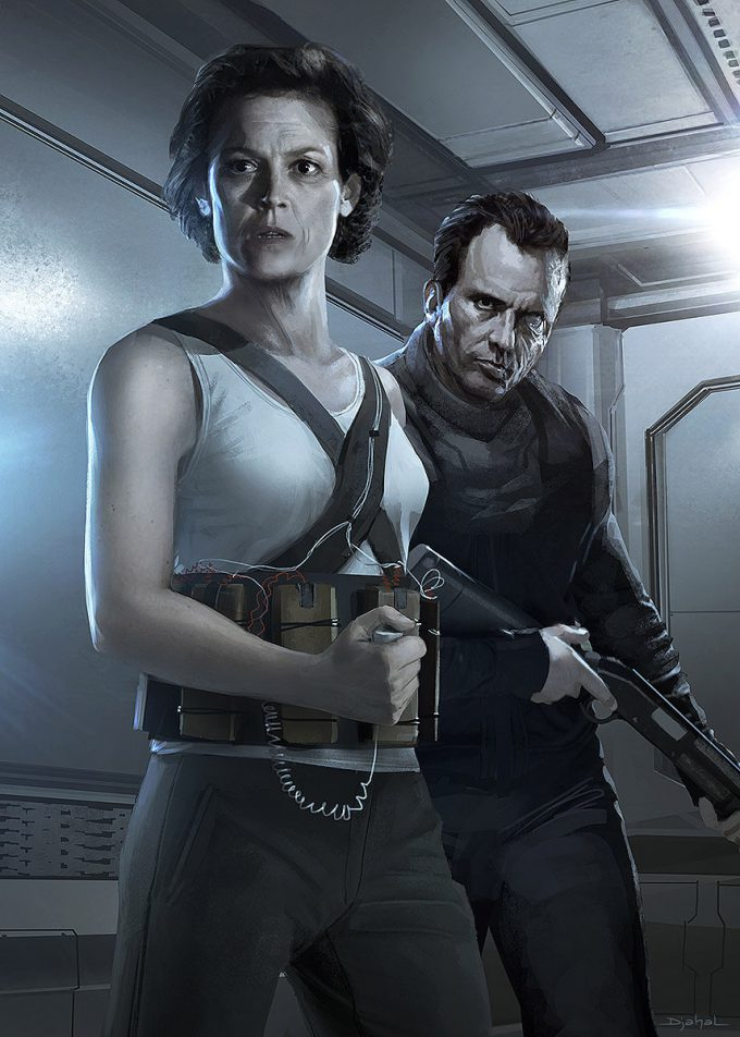 Alien 5 Concept Art Neill Blomkamp Film Project Geoffroy Thoorens Poster