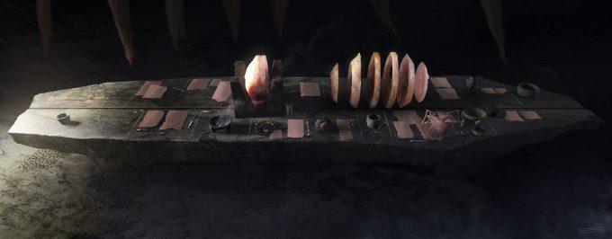 Alien Covenant Concept Art ev shipard lab tablecu a