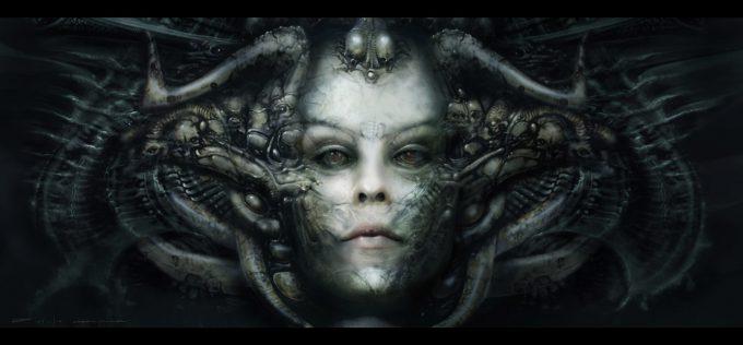 Alien Covenant Concept Art ev shipard shawbiomechanoid v02