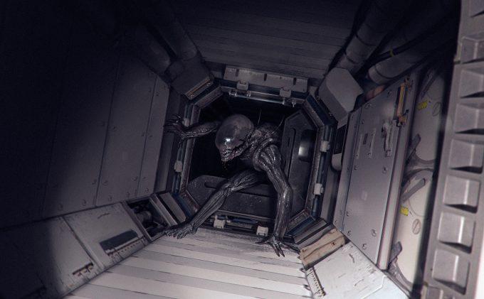 Alien Franchise Concept Fan Art 01 Alejandro Mirabal Corridor