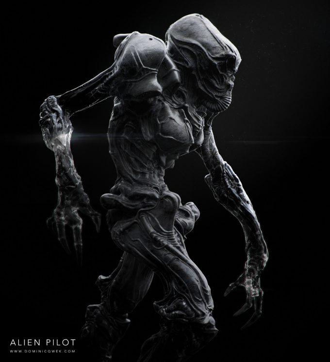 Alien Franchise Concept Fan Art 01 Dominic Qwek Alien Pilot