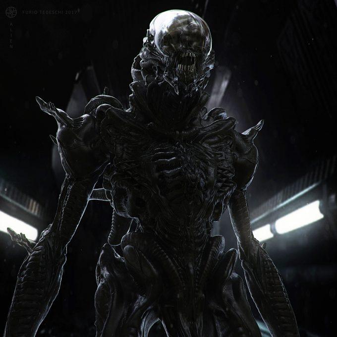Alien Franchise Concept Fan Art 01 Furio Tedeschi Alienday