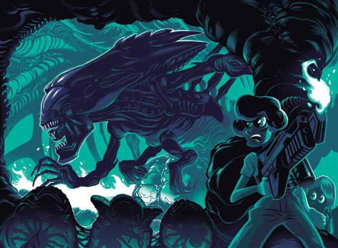 Alien Franchise Concept Fan Art 01 Kevin T Chin Aliens