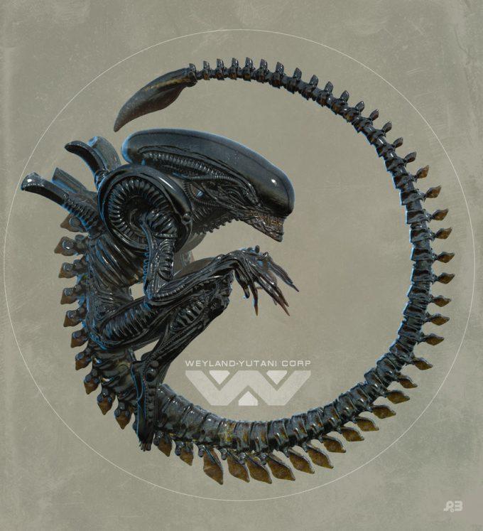 Alien Franchise Concept Fan Art 01 Pascal Blanche Xeno