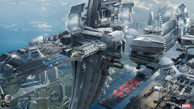Chris Kesler Concept Art Guardians of the Galaxy Spaceport 01