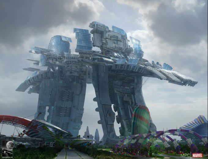 Chris Kesler Concept Art Guardians of the Galaxy Spaceport 02
