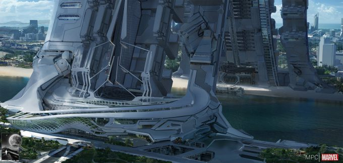 Chris Kesler Concept Art Guardians of the Galaxy Spaceport 03