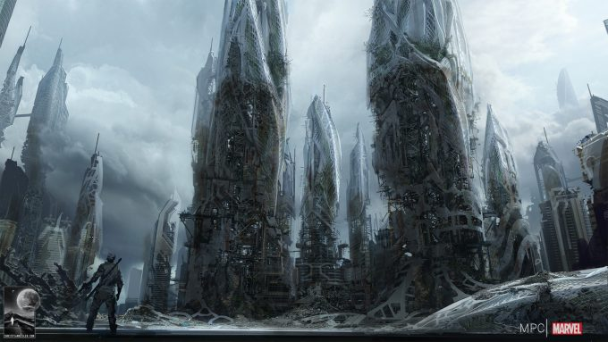 Chris Kesler Concept Art Guardians of the Galaxy Spaceport 04