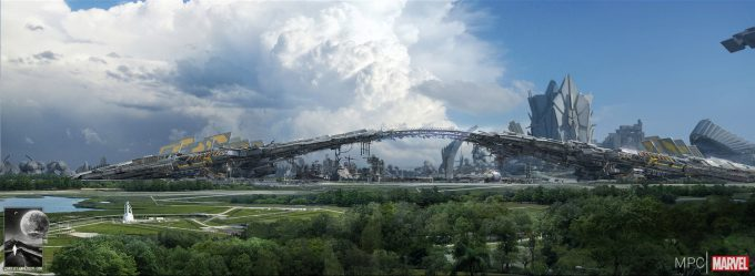 Chris Kesler Concept Art Guardians of the Galaxy Spaceport 05