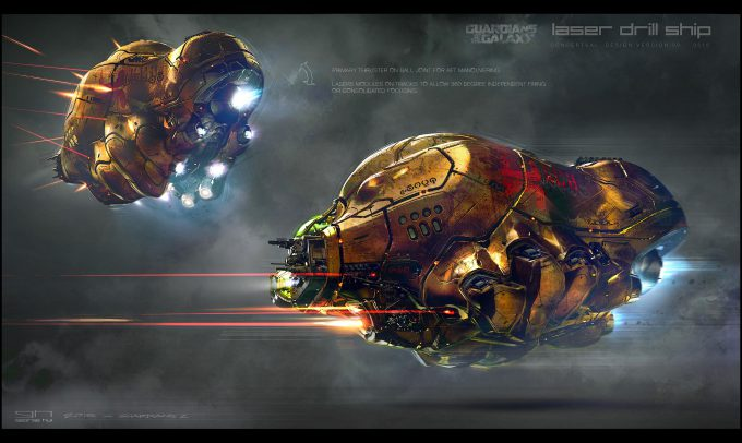 Guardians of the Galaxy Vol 2 Concept Art George Hull Laser Drill Ship 01