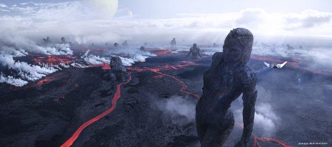 greg semkow concept art Lava field