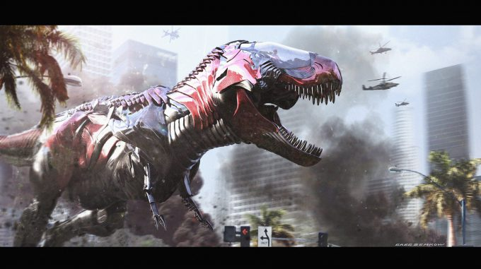 greg semkow concept art T Rex Zord Final