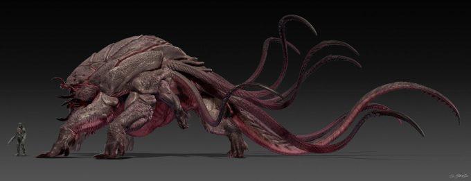 guardians of the galaxy vol 2 concept art JSM Monster Side 1