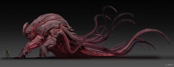 guardians of the galaxy vol 2 concept art JSM Monster variation 1