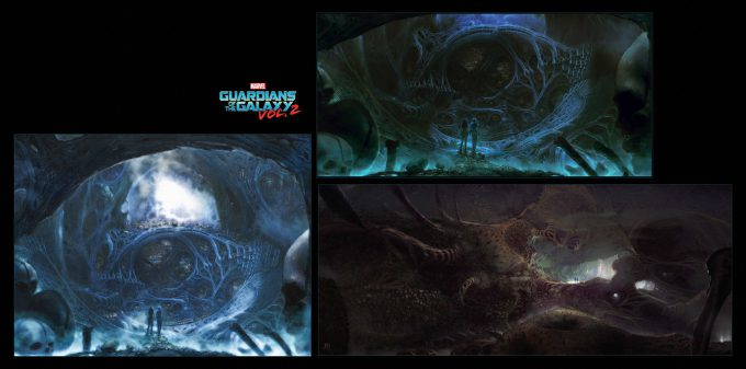 guardians of the galaxy vol 2 concept art john jd dickenson bones discovery egoint gamora nebula