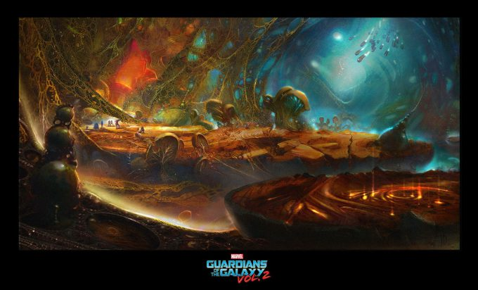 guardians of the galaxy vol 2 concept art john jd dickenson chamber platform attack new scale