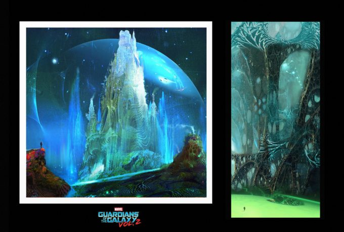guardians of the galaxy vol 2 concept art john jd dickenson early sketch egos palace 1