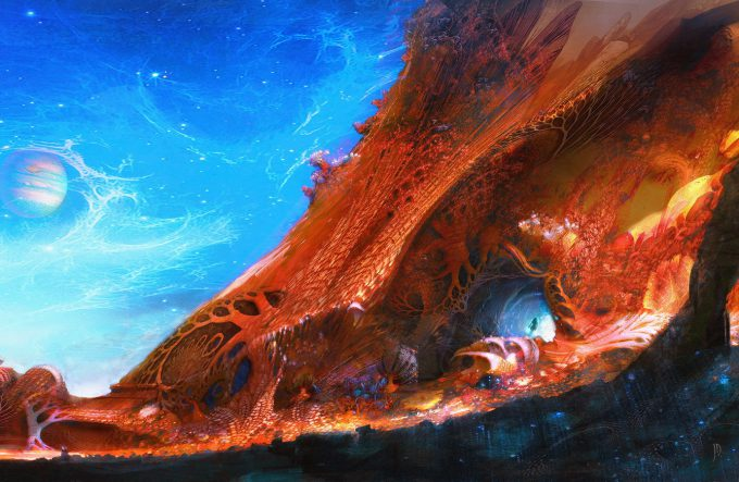 guardians of the galaxy vol 2 concept art john jd dickenson gamora chase seq detail nebula ego ext