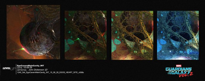 guardians of the galaxy vol 2 concept art john jd dickenson set ego cavern main cavity int egos heart site v006