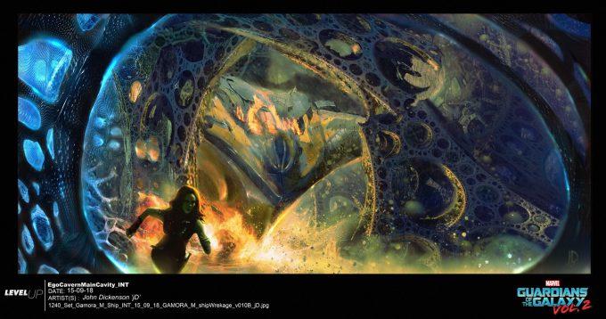 guardians of the galaxy vol 2 concept art john jd dickenson set gamora m ship int gamora m shipwrekage v010b