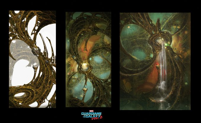 guardians of the galaxy vol 2 concept art john jd dickenson sketches egos self chamber 01