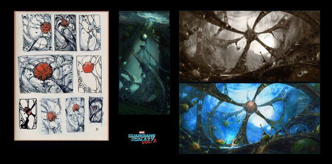 guardians of the galaxy vol 2 concept art john jd dickenson sketches egos self chamber 02