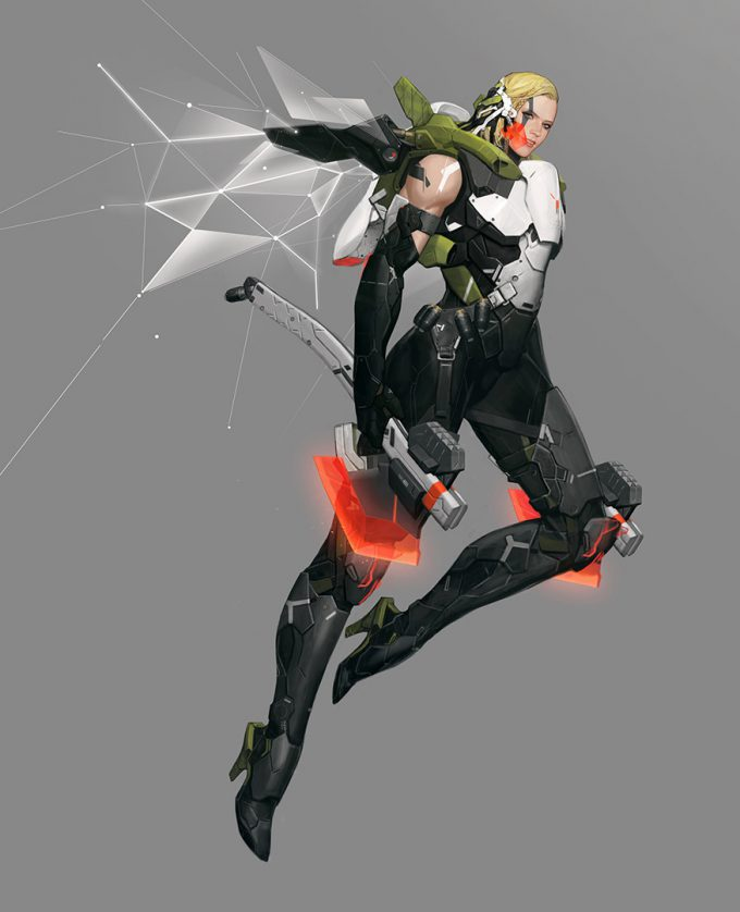 Ascendant One Character Design Nike chang woo lee 01