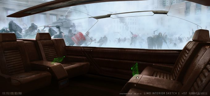 Ghost in the Shell concept art j bach GTIS VEH Limo Interior Sketch 1 v02