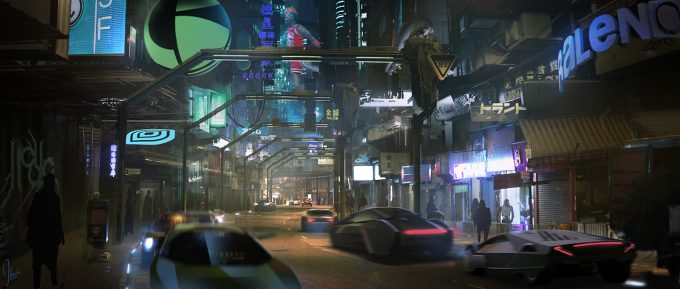 Ghost in the Shell concept art j bach HK Paintover 000266 v02