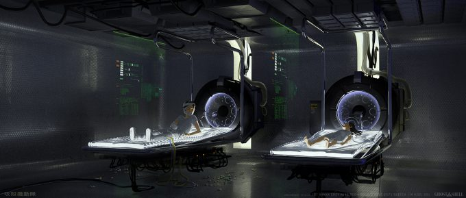 Ghost in the Shell concept art j bach INT Hanka GreyWing 2571 RoomINT 1 DoubleBeds Sketch 1 WithKids v01