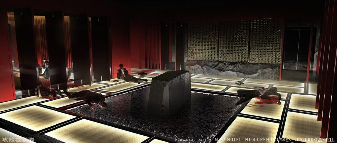 Ghost in the Shell concept art j bach INT MiraHotel Sketch 3 v02 OpenLouvres