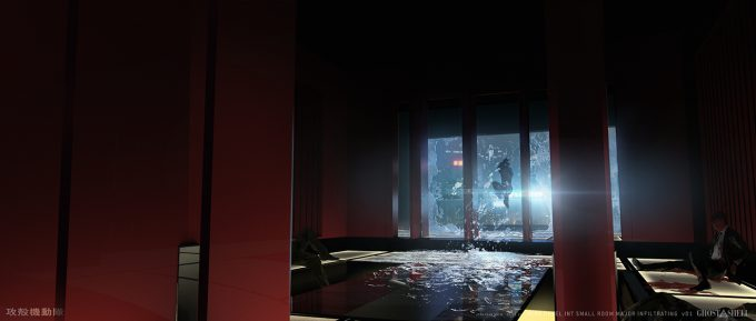 Ghost in the Shell concept art j bach INT MiraHotel SmallRoom Sketch MajorInfilrating v01