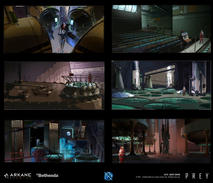 Prey Game 2017 Concept Art Arkane Studios Bethesda DS 61