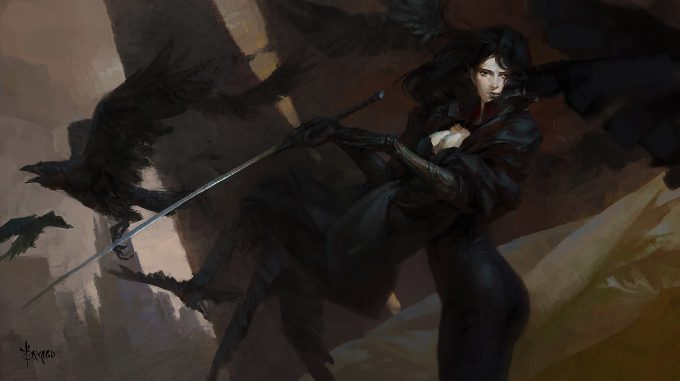 bayard wu illustration concept art crow 2