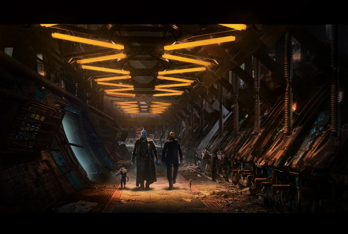 guardians of the galaxy vol 2 concept art JB 1016 Set EclectorHallwayINT 150911 Sketch 1 v008