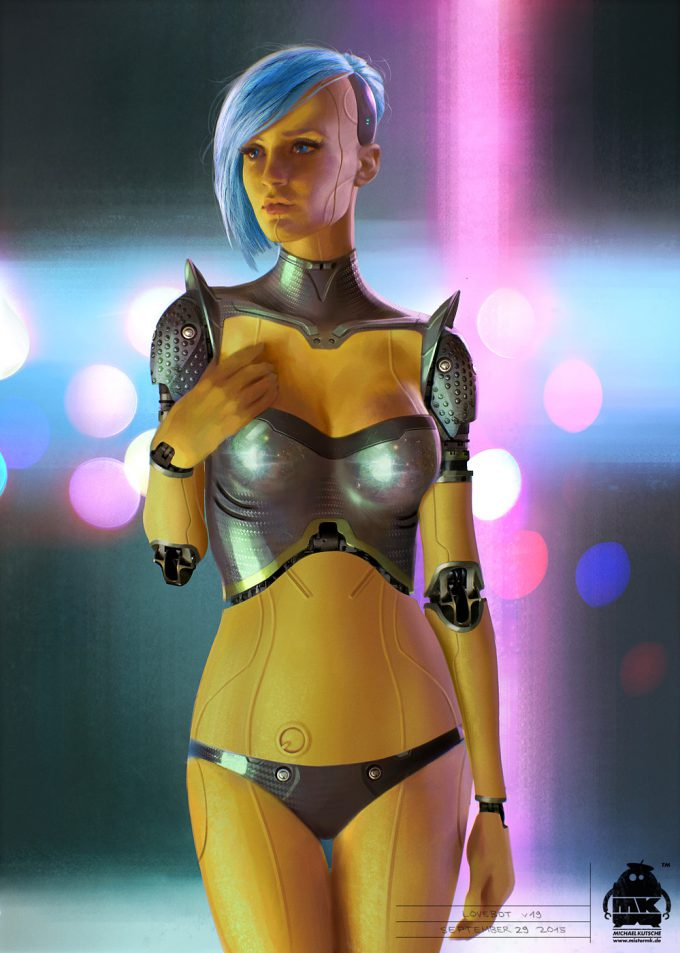 guardians of the galaxy vol 2 lovebot concept by michael kutsche