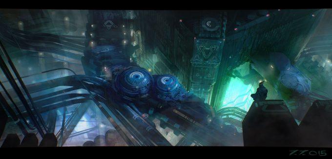 jakub javora concept art blue pipes