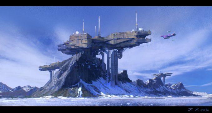 jakub javora concept art mountain base