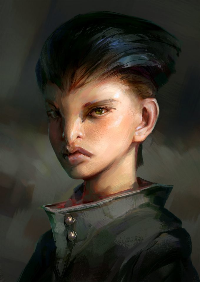 jakub javora concept art raven girl