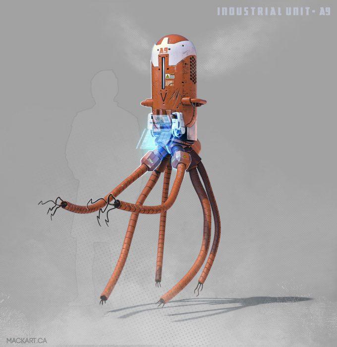 mack sztaba concept art industrial bot 2