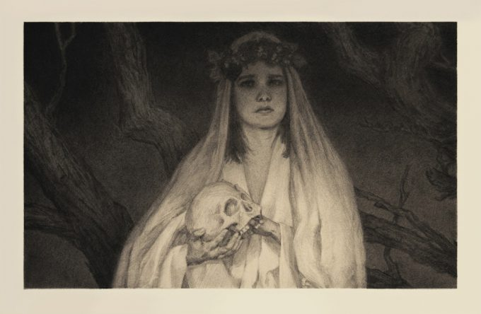mitchell malloy art illustration graphite sketch persephone lo