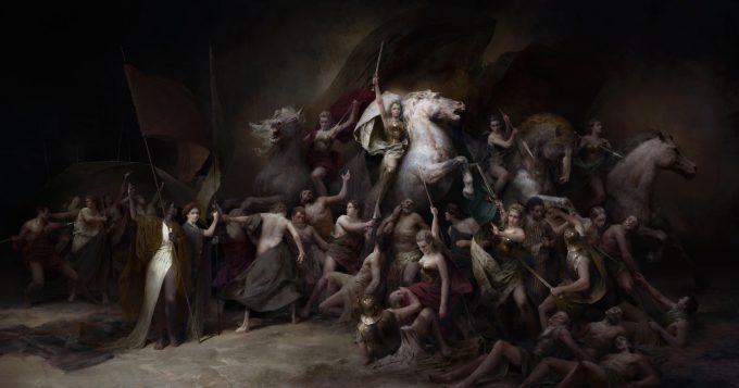 wonder woman concept art painting piotr jablonski freedom
