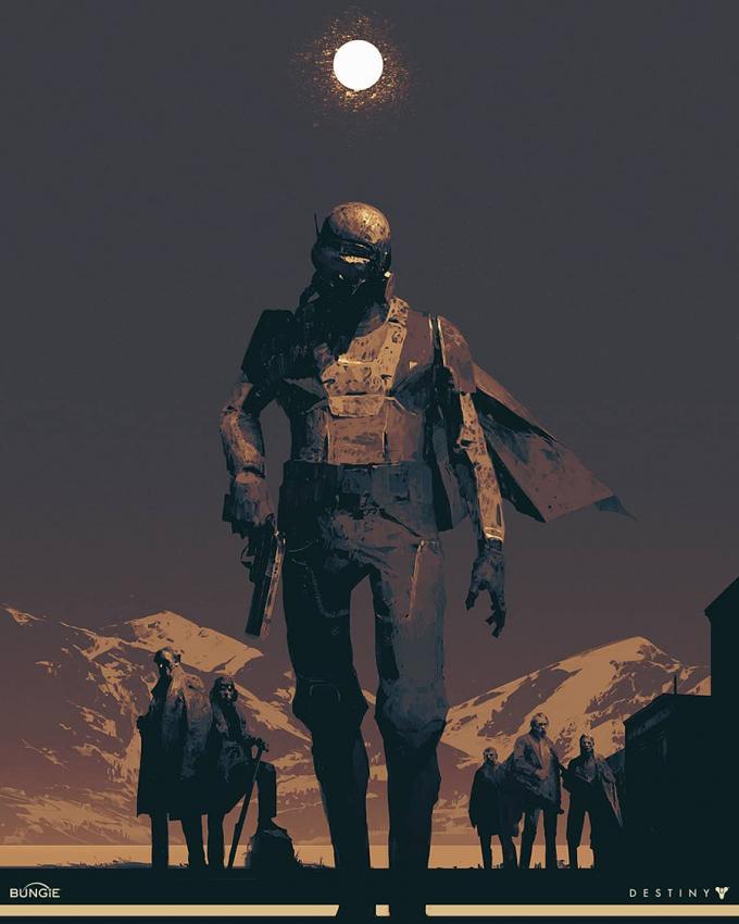 Destiny 2 Jaren Ward Artwork Grimoire Anthology Piotr Jablonski 01