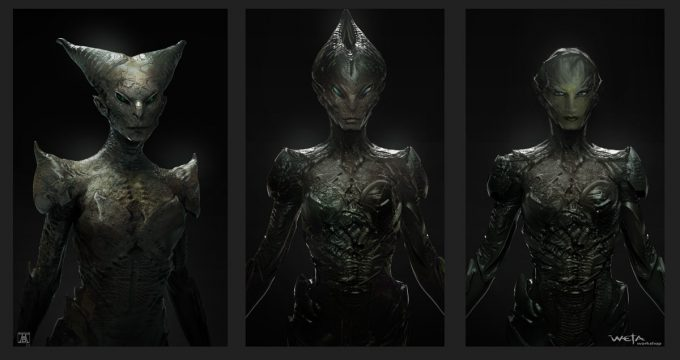 Power Rangers Concept Art andrew baker 010 rita creature 01 ajb