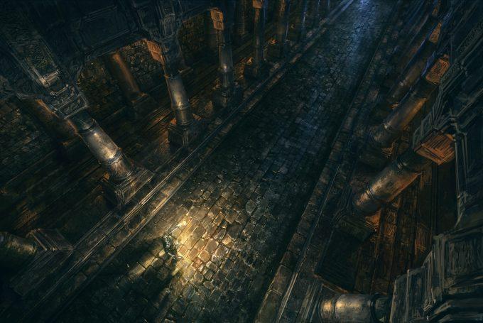 SpellForce 3 Concept Art Raphael Lubke enviroment dungeon hallway1