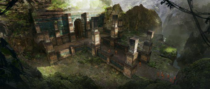 SpellForce 3 Concept Art Raphael Lubke enviroment temple rite upload