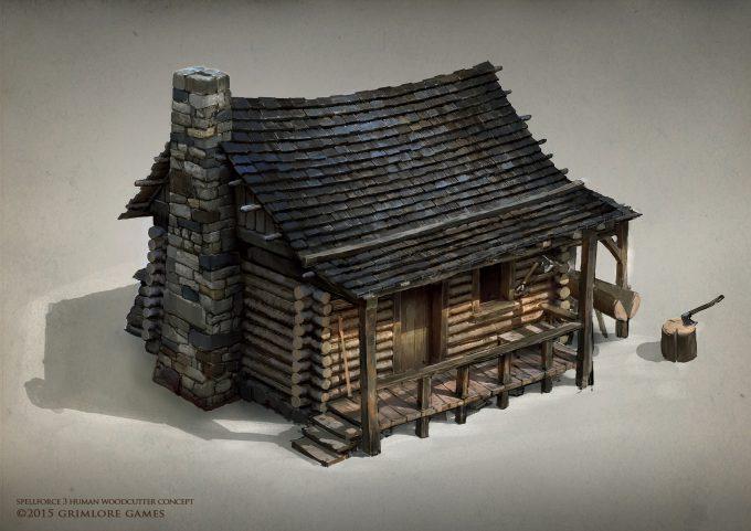 SpellForce 3 Concept Art Raphael Lubke human woodcutter upload