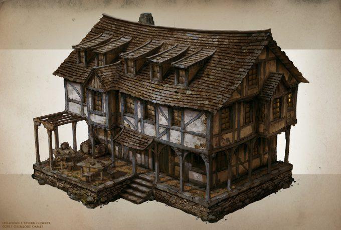 SpellForce 3 Concept Art Raphael Lubke tavern final