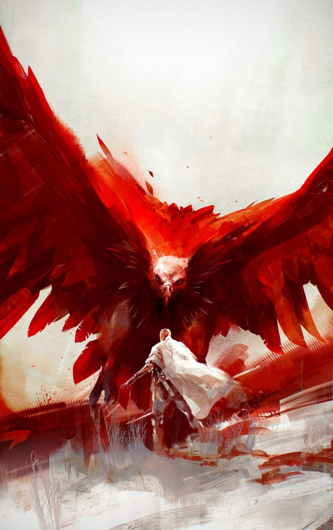 The Red Stained Wings The Lotus Kingdoms Cover Art Richard Anderson TOR Books 01